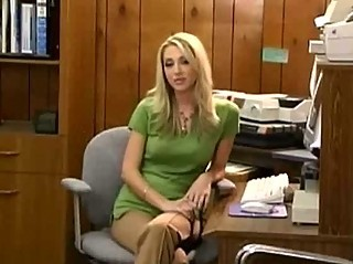 Amazing Blonde  Office Caught
