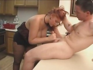 Amateur  Big Tits Blowjob Kitchen Natural Pantyhose Redhead