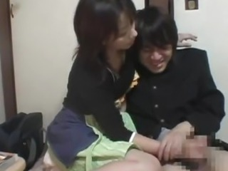 Asian Clothed Handjob Japanese  Uniform