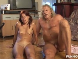 Amateur Fetish  Oiled Older Redhead Wife Kinky