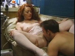 Amazing Family Hairy Licking Mature Mom Old and Young Redhead Vintage