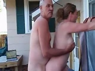 Amateur Doggystyle  Older Outdoor Wife