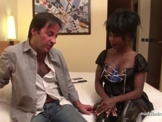 Babe Ebony European French Interracial Latex Natural Leather French Hotel