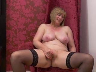 Masturbating Mature Natural Stockings Mother