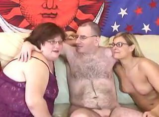 Glasses Mature  Older Threesome Wife