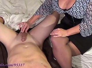 Big Tits  Handjob Mature Mom Old and Young