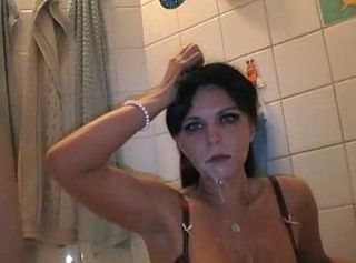 Amateur Bathroom Cumshot Girlfriend Teen Milk