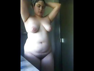 Amateur Brazilian Chubby Girlfriend Latina Showers Teen Plumper