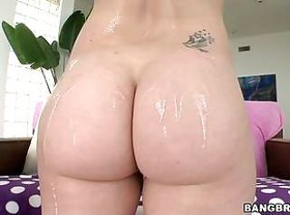 Ass Babe Oiled Tattoo
