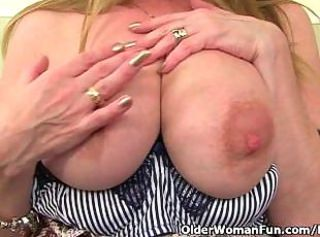 Big Tits British European Masturbating  Natural Nipples British