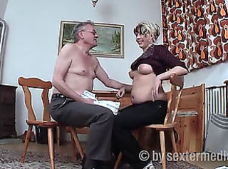 Chubby Daddy Daughter European German Old and Young Teen