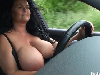 Amateur Big Tits Car Mature Boobs