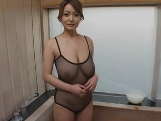 Amazing Asian Big Tits Fishnet Japanese Natural