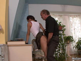 Daddy Daughter Doggystyle Family Forced Old and Young Teen Son Forced