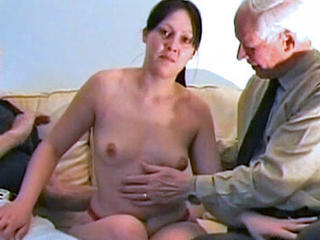 Amateur Daddy Daughter Family Old and Young Teen Threesome