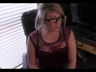Amateur Glasses Office Secretary Wife