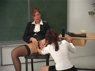Fisting Lesbian  Mom Old and Young School Stockings Teacher