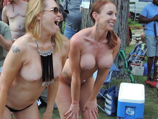Big Tits Outdoor Piercing Party Wife