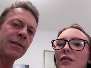 Casting Daddy Daughter Glasses Old and Young Teen