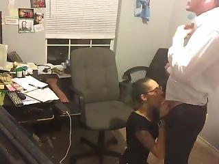 Amateur Blowjob HiddenCam Office Secretary Wife Boss