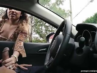 Brazilian Cash Car Handjob Latina  Outdoor Public Public