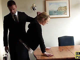Office Secretary Spanking