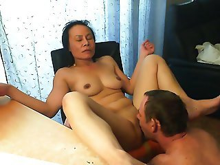 Amateur Asian Licking Mature Wife