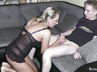 Amateur Family Handjob Lingerie  Mom Old and Young