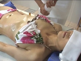 Asian Bikini Japanese Massage Oiled Teen Daughter Mother