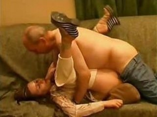 Amateur Daddy Daughter Family Old and Young Teen Innocent