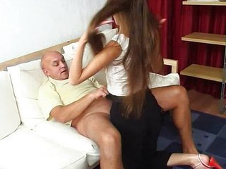 Daddy Daughter Family Old and Young Russian Teen