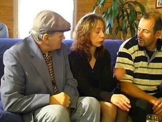 European French Mature Older Threesome