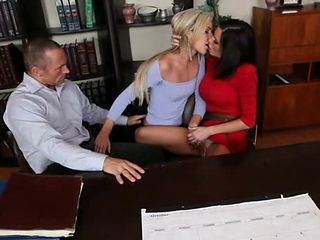 Amazing  Office Secretary Threesome