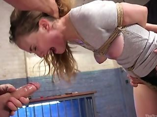 Bondage Forced Hardcore Slave Teen Tied