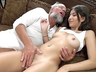 Amazing Brazilian Daddy Daughter Family Interracial Latina Old and Young Teen