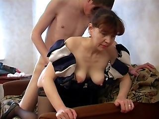 Doggystyle Family Mature Mom Old and Young Russian