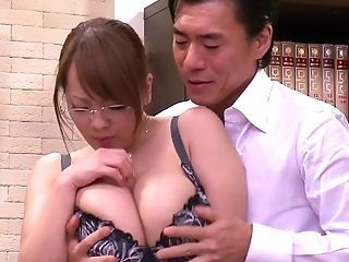 Asian Big Tits Glasses Japanese  Natural