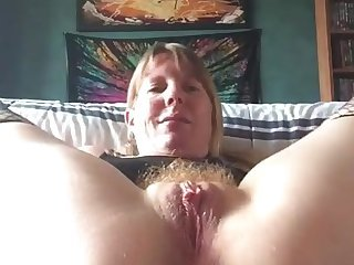 Hairy Homemade Masturbating Orgasm Pussy Webcam Wife