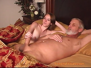 Daddy Daughter Family Handjob Old and Young Teen Taboo
