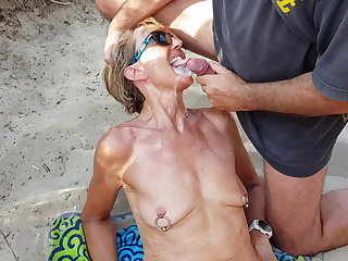 Bukkake Cumshot Facial Outdoor Piercing  Wife Outdoor