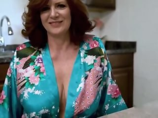 Big Tits Kitchen Mature Mom
