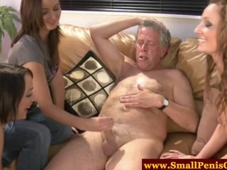 Daddy Handjob Old and Young Small cock Teen