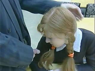 Blowjob Pigtail Redhead Russian School Student Teen Uniform