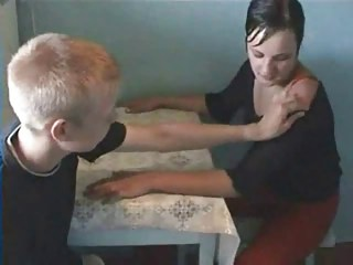 Amateur Homemade Kitchen Russian Sister