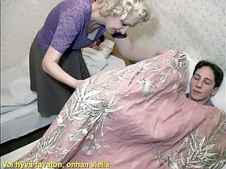 Blonde Mature Mom Old and Young Sleeping