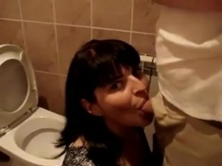 Amateur Blowjob Brunette Cash Mature  Toilet