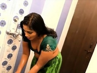 Amateur Bathroom Indian  Wife