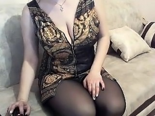 Amazing Big Tits Mature  Natural Stockings Webcam