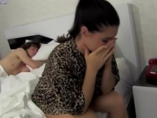 Brunette Sister Sleeping Teen