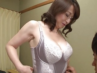Asian Big Tits Glasses Japanese Lingerie Mature Mom Old and Young